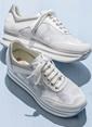 Elle Dolgu Tabanlı Sneaker Ayakkabı Beyaz